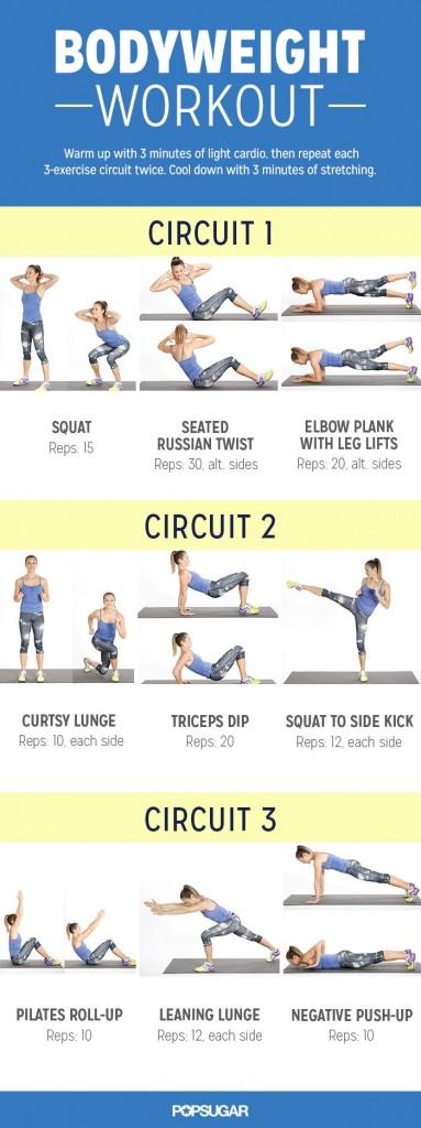 Esempio di circuit training (clicca per ingrandire)